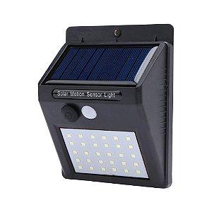 Luminária Solar de Parede 30 Leds Sensor de Movimento e Acendimento Automático