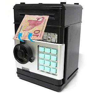 Mini Cofre Eletrônico Digital Senha 4 Dígitos Notas e Moedas