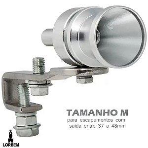 Kit Turbo Turbina Virtual Simulador Som Apito Carro Moto Tamanho M