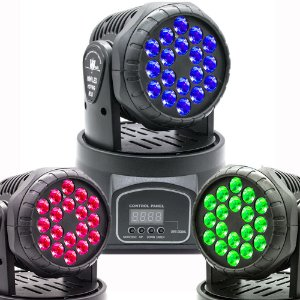 Moving Head RGBW 18 Led 3 Watts Quadriled