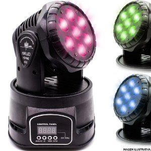 Mini Moving Head 7 Leds 84 Watts RGBW