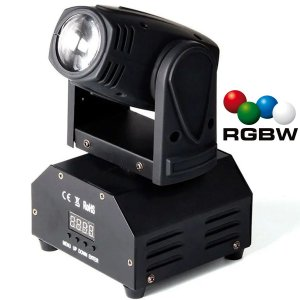 Mini Moving Head Beam 12W de Potência RGBW