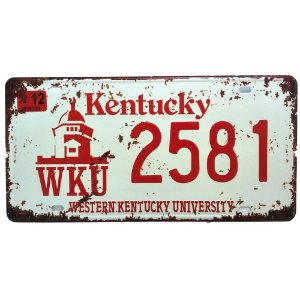 Placa de Carro Antiga Decorativa Metálica Vintage Kentucky