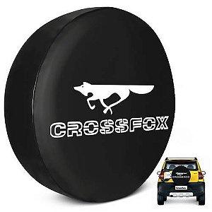 Capa para Estepe Pneu Personalizada Especial Crossfox + Cabo + Cadeado Fox Logomarca