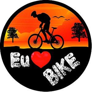 Capa Personalizada para Estepe Ecosport Crossfox Eu Amo Bike