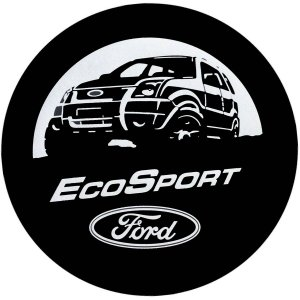 Capa para estepe Ecosport Crossfox Aircross + Cabo + Cadeado Ecosport Bem-vindos à Vida