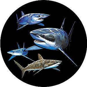 Capa para estepe Ecosport Crossfox + Cabo + Cadeado Tubarões
