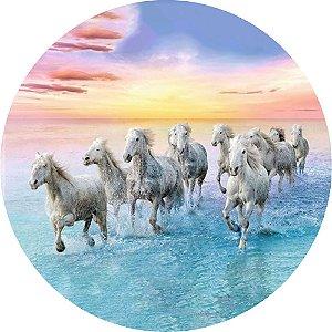 Capa Personalizada para Estepe Ecosport Crossfox Cavalos na Praia