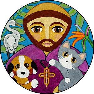 Capa para estepe Ecosport Crossfox + Cabo + Cadeado Religioso São Francisco de Assis 1