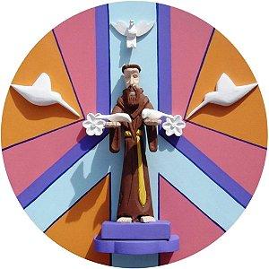 Capa para estepe Ecosport Crossfox + Cabo + Cadeado Religioso São Francisco de Assis 3