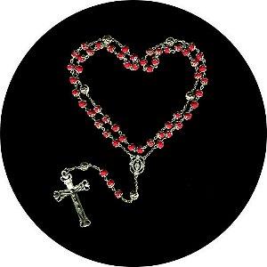 Capa para estepe Ecosport Crossfox + Cabo + Cadeado Religioso Rosário Vermelho
