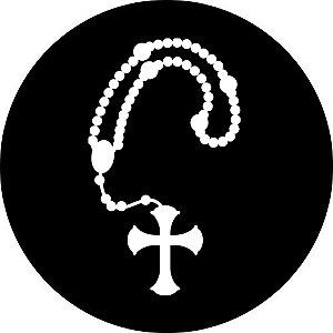 Capa Personalizada para estepe Ecosport Crossfox + Cabo + Cadeado Religioso Rosário Branco