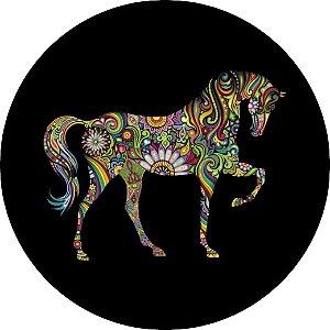 Capa Personalizada para Estepe Ecosport Crossfox Cavalo Psicodélico