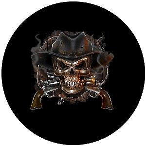 Capa Personalizada para Estepe Ecosport Crossfox Pistoleiro Caveira