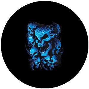 Capa Personalizada para Estepe Ecosport Crossfox Caveira Azul