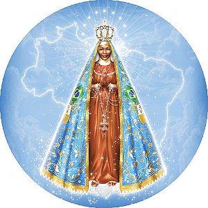 Capa Personalizada para estepe Ecosport Crossfox + Cabo + Cadeado Religioso Nossa Senhora Aparecida