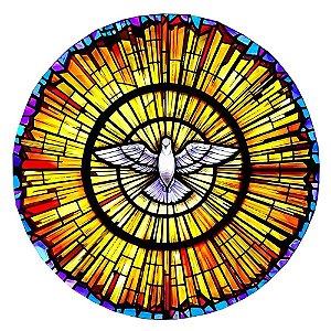 Capa Personalizada para estepe Ecosport Crossfox + Cabo + Cadeado Religioso Espírito Santo