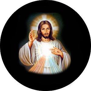 Capa Personalizada para estepe Ecosport Crossfox Aircross Religioso Jesus Cristo