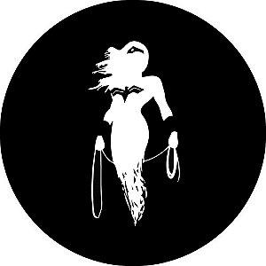 Capa para estepe Ecosport Crossfox + Cabo + Cadeado Mulher Maravilha 3