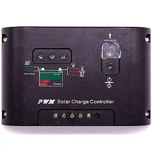 Controlador de Carga 20A 12V/24V Regulador Sistema Painel Solar