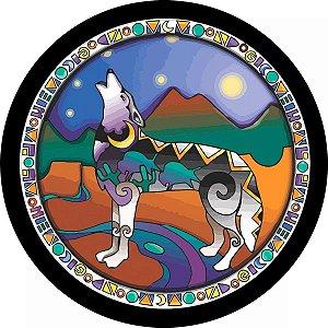 Capa Personalizada para Estepe Ecosport Crossfox Lobo Grafismo