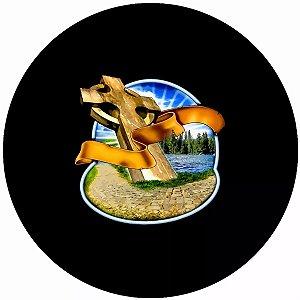 Capa Personalizada para Estepe Ecosport Crossfox Religioso Cruz