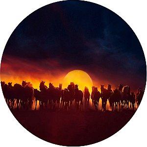 Capa Personalizada para Estepe Ecosport Crossfox Cavalos Por do Sol
