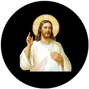 Capa Personalizada para estepe Ecosport Crossfox + Cabo + Cadeado Religioso Jesus Cristo