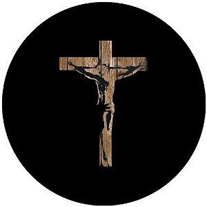 Capa Personalizada para estepe Ecosport Crossfox + Cabo + Cadeado Religioso Cruz