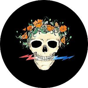 Capa Personalizada para Estepe Ecosport Crossfox Caveira Flores
