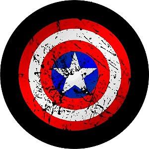Capa Personalizada para Estepe Ecosport Crossfox Marvel Capitão America