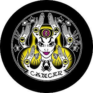 Capa para estepe Ecosport Crossfox + Cabo + Cadeado Signo Câncer
