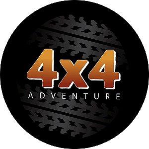 Capa para estepe Ecosport Crossfox + Cabo + Cadeado 4X4 Adventure