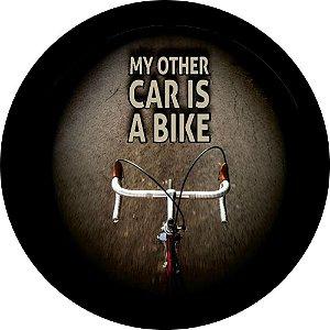 Capa para estepe Ecosport Crossfox + Cabo + Cadeado Bike