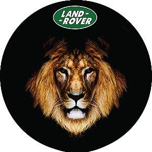 Capa Personalizada para Estepe Pneu Exclusiva Land Rover Defender Leão