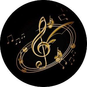 Capa para estepe Ecosport Crossfox + Cabo + Cadeado Notas Musicais