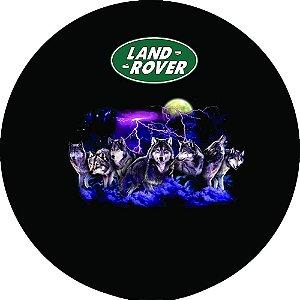 Capa Personalizada para Estepe Pneu Exclusiva Land Rover Defender Lobos