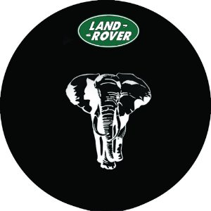 Capa Personalizada para Estepe Pneu Exclusiva Land Rover Defender Elefante