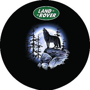 Capa Personalizada para Estepe Pneu Exclusiva Land Rover Defender Lobo Uivando