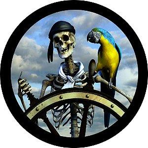 Capa para estepe Ecosport Crossfox + Cabo + Cadeado Pirata