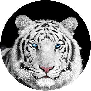 Capa Personalizada para Estepe Ecosport Crossfox + Cabo + Cadeado Tigre Olhos Azuis