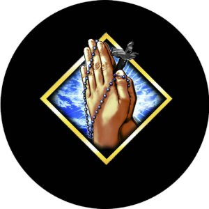 Capa Personalizada para Estepe Ecosport Crossfox + Cabo + Cadeado Religioso Terço