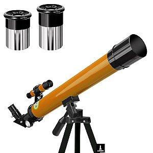 Telescópio Astronômico Refrator Profissional 50/100x Tripé