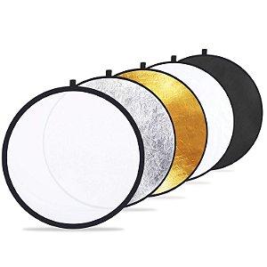 Rebatedor Refletor Luz Fotográfico 104cm 5 em 1 Dobrável com Bolsa
