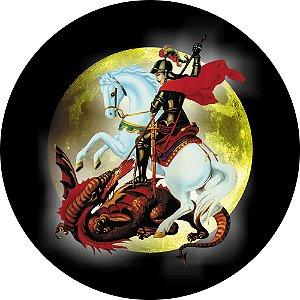 Capa Personalizada para estepe Ecosport Crossfox + Cabo + Cadeado Religioso São Jorge