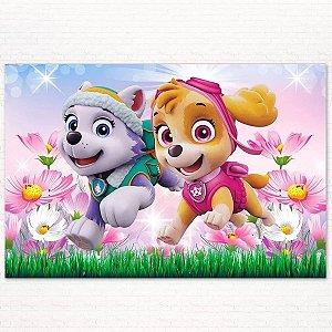 Painel de Festa Infantil Personalizado em Tecido Patrulha Canina