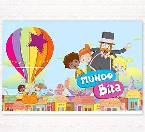 Painel de Festa Infantil Personalizado em Tecido Tema Mundo Bita 1