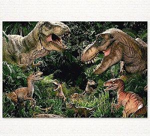 Painel de Festa Infantil Personalizado em Tecido Tema Dinossauros