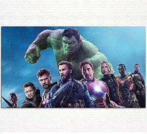 Painel de Festa Infantil Personalizado em Tecido Tema Vingadores Marvel 4