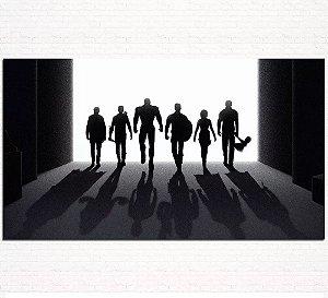 Painel de Festa Infantil Personalizado em Tecido Tema Vingadores Marvel 6